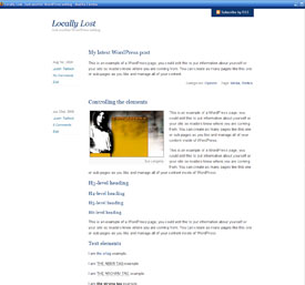 Preview of the Bliss WordPress theme