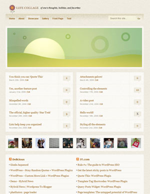 Life Collage WordPress Theme