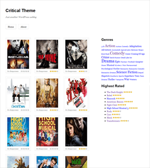 Screenshot of the Critical WordPress theme