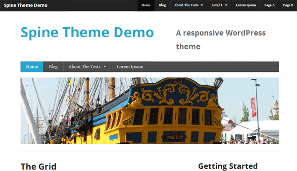 Screenshot of the Spine WordPress theme