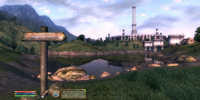 How the world looks in Oblivion